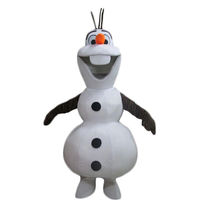 Smiling Olaf Mascot Costume Cartoon Character Snowman Mascot Costume Free Shipping
