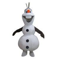 Smiling Olaf Mascot Costume Cartoon Character Snowman mascot Costume Free Shipping
