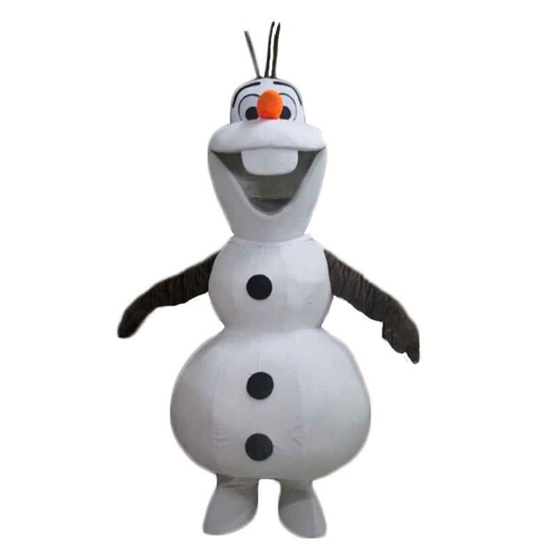 Sourire Olaf mascotte Costume personnage de dessin animé bonhomme de neige mascotte Costume livraison gratuite