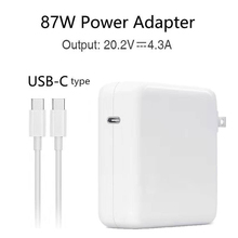 Youpin 87W 20.2V 4.3A USB-C Power Adapter Type-C PD Charger For Latest Macbook pro 15-inch A1706 A1707 A1708 A1719