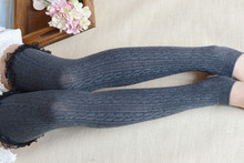 Spring And Autumn Fashion Stockings Boots Warm Cotton Knee High Jacquard