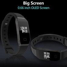 E02 умный Браслет Фитнес трекер Часы Приборы для измерения артериального давления СМАРТС браслет Touchpad OLED ремешок для IOS Andriod смартфон