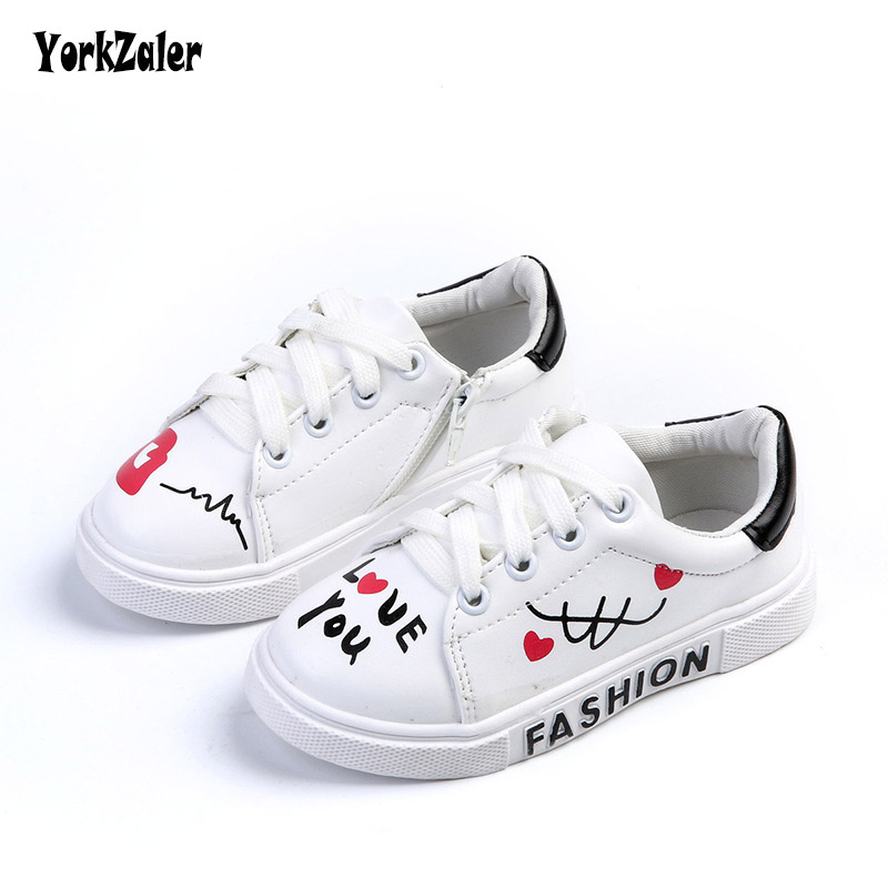 Yorkzaler Spring Autumn Kids Sneakers Casual Shoes For Girls Boys Artificial Leather 3 Color Graffiti Childrens Sport ShoesYorkzaler Spring Autumn Kids Sneakers Casual Shoes For Girls Boys Artificial Leather 3 Color Graffiti Childrens Sport Shoes