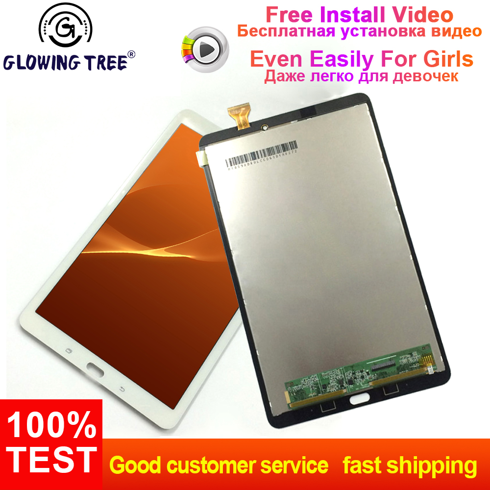 Per Samsung Galaxy Tab E 9.6 T560 T561 SM-T560 SM-T561 Touch Screen Digitizer Sensor + LCD Display Panel Monitor di MontaggioPer Samsung Galaxy Tab E 9.6 T560 T561 SM-T560 SM-T561 Touch Screen Digitizer Sensor + LCD Display Panel Monitor di Montaggio