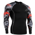 Men Top Tees Compression Shirt Long Sleeves Fit Tight Shirts Sportswear-for-Fitness Men Top Shirt Male Compression Shirt
