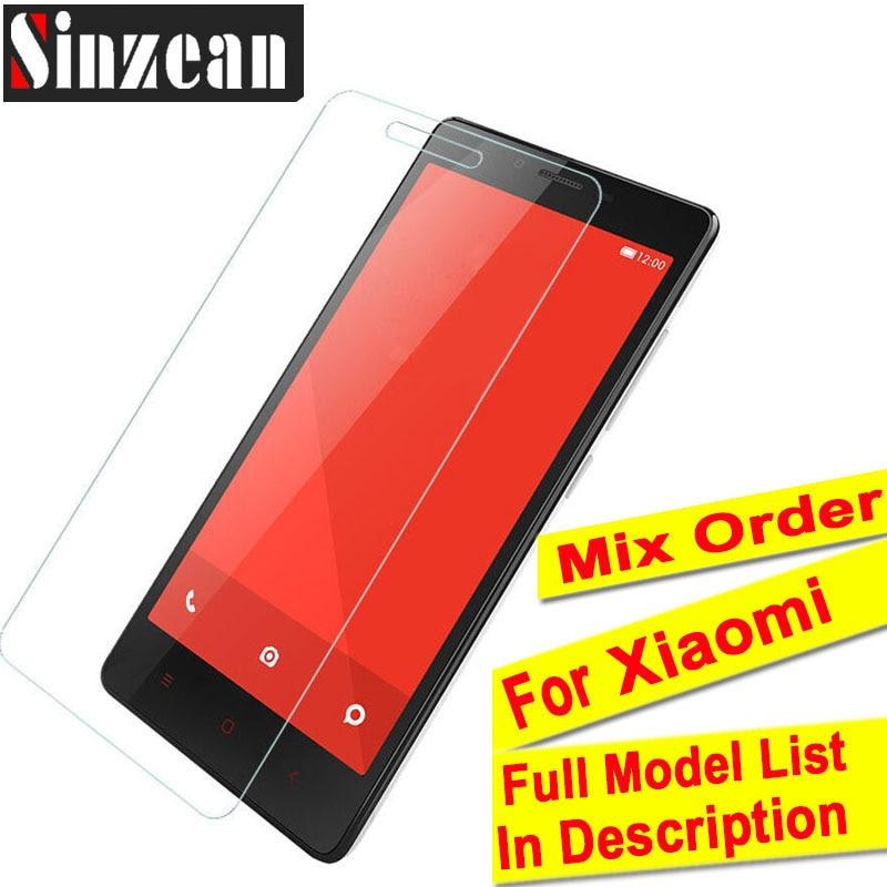 Sinzean 100pcs Mix Order For Xiaomi 9X Mi8 Play Mix 2S Mi7 6X Tempered Glass For