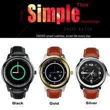 ที่เรียบง่ายบางIPS DM365สมาร์ทนาฬิกาLCD Touch Screenบลูทูธที่มีไมค์รอบSmartwatchซิงค์โทรสำหรับIOS A Ndroid P hone VS DM360