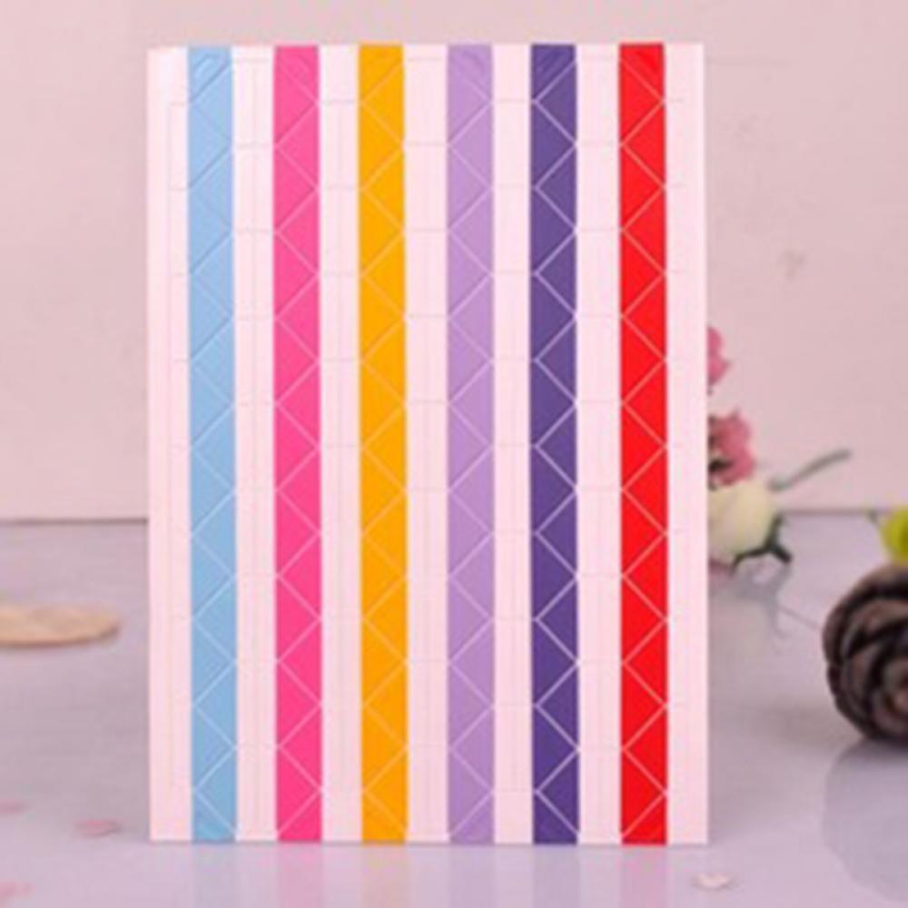 New1 фото листа скрап-альбом Уголок Ленты Стикеры самоклеящиеся ручной DIY - Цвет: multicolor