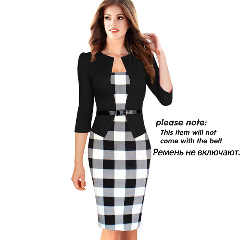 forever One-piece Faux Jacket Brief Elegant Patterns Work dress ...
