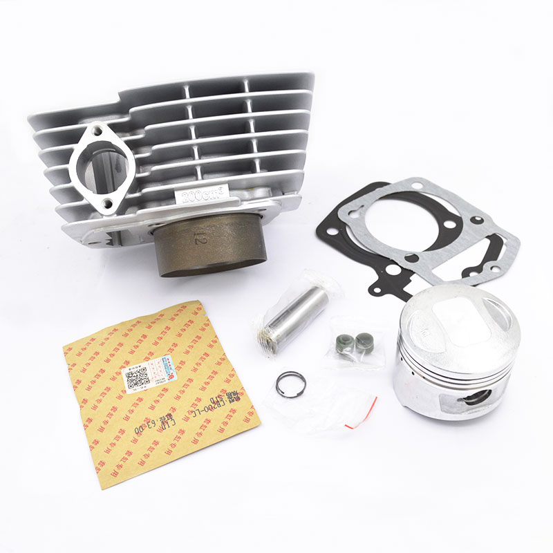 High Quality Motorcycle Cylinder Kit 63mm Bore For Loncin CB200 CB 200 200cc Off Road Dirt Bike KAYO CQR Engine Spare Parts free shipping 65 5mm zongshen t4 mx6 cqr250 cb250 dirt bike motorcycle cylinder kits with piston and 15mm pin for kayo t4