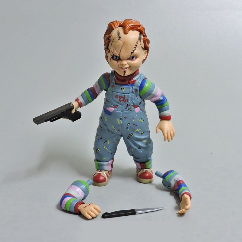 12cm Horror Doll Child's Play Bride of Chucky 1/10 Scale Horror Doll  Action Figure Toys for children