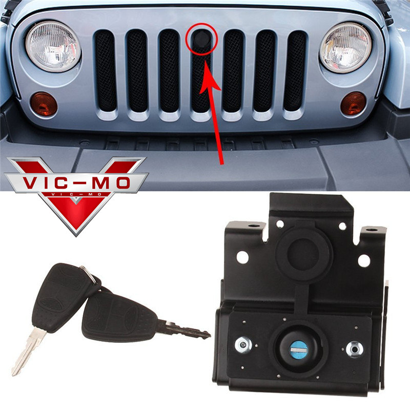 Replacement Parts Fit For Jeep Wrangler Front Engine Compartment Hood Cover  Anti Theft Grille Lock With Keys VICMO In Locks U0026 Hardware From Automobiles  ...