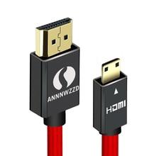 Мини HDMI-Male м, 1 м, 2 м, 3 м, 5 м кабель HDMI V1.4 с поддержкой Ethernet, 1080 P, 3D и реверсивным звуковым для Планшеты DVD ПК HDTV