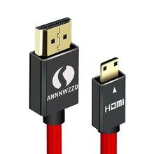 Mini HDMI męski męski 1M 2M 3M 5M kabel HDMI V1.4 obsługuje Ethernet, 1080P, 3D i zwrot Audio dla tabletów DVD PC HDTV