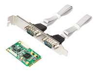 MINI PCI E To 2 Port RS422 485 Industrial Serial Port Card MINI PCIE TO 422