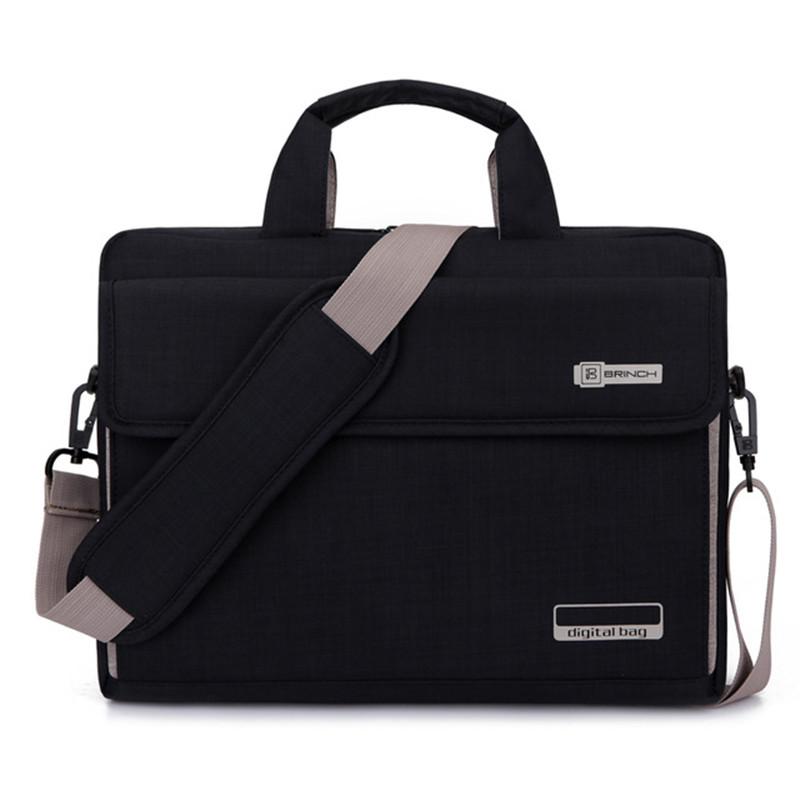 Prix pour Grande capacité 13.3 14 15.6 pouce ordinateur portable sac à main étui de protection couverture pour macbook dell lenovo serviette épaule messenger bag