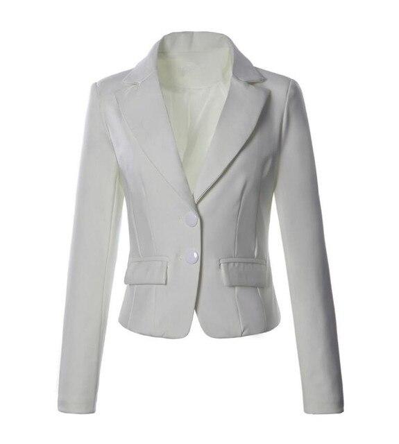 Haute Vestes Blazers Court Manteau Blanc Costume Femmes Très Qualité gwdqxgP