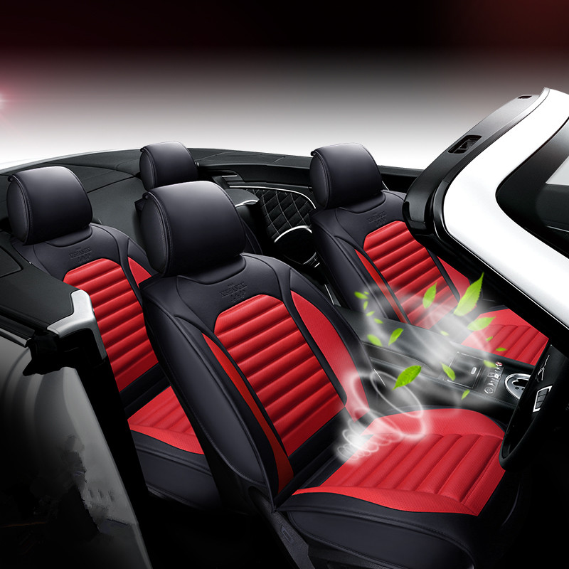 New breathable leather 3D stereo car cushion, four seasons seat cover, Car styling for Audi BMW Lincoln and all other cars