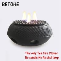 BETOHE tea teapot warmer cast iron alcohol burner tea pot warmer fire stoves