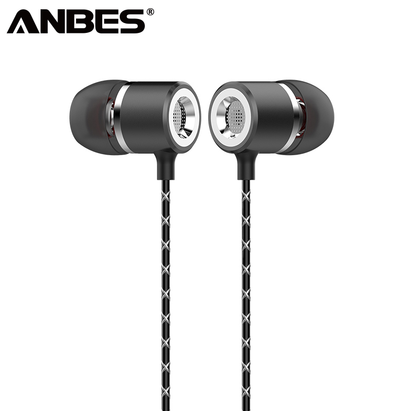 ANBES Super Bass In Ear Earphone Remote HiFi Stereo Headphone Metal Noise Canceling 3.5mm aux Earbuds with Mic for Smart Phone мешок для обуви peppa pig свинка пеппа superstar
