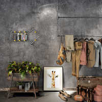 Retro nostálgico cemento gris PVC exfoliador impermeable Papel pintado restaurante tienda De ropa Papel pintado sala De estar