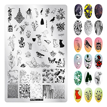 9.5*14.5CM Valentines Day Nail Stamping Template  Animal Geometry Cute Dog Rectangle Art Plate New Arrived