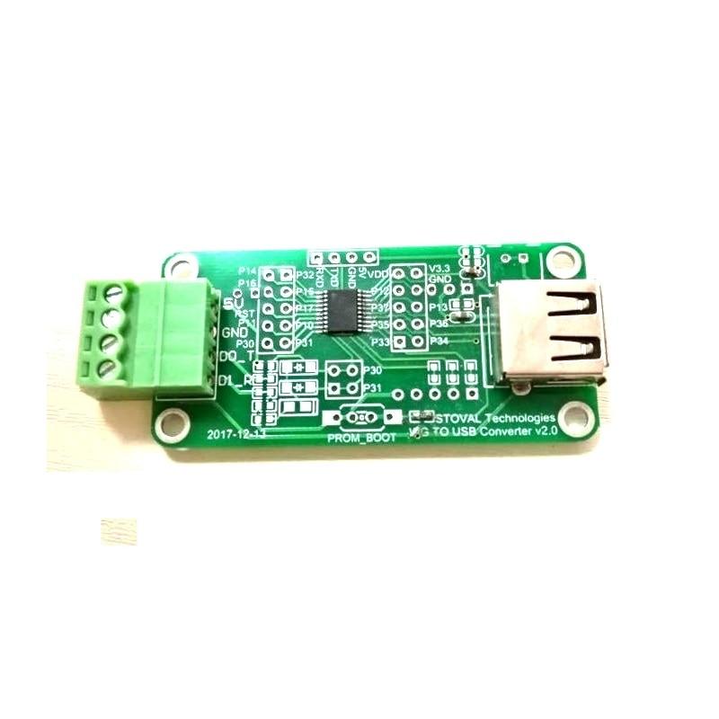 Wiegand To USB- Simulated Keyboard Plug and Play Converter ModuleWiegand To USB- Simulated Keyboard Plug and Play Converter Module
