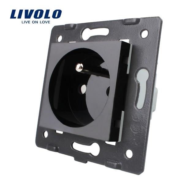 Livolo Noir En Plastique Matériaux, standard de L'UE, fonction Clé Pour Franch Socket, VL-C7-C1FR-12