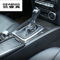 Автомобильный Стайлинг углеродное волокно центральная консоль панельная Накладка для коробки передач наклейки отделка для Mercedes Benz C class W204 ...