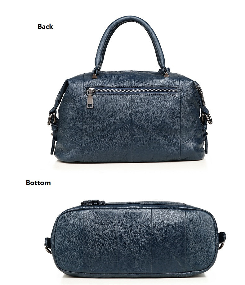 MJ Women Genuine Leather Handbag Female Real Cow Leather Tote Bag Ladies Large Capacity Shoulder Bag Crossbody Bags for Women (14)