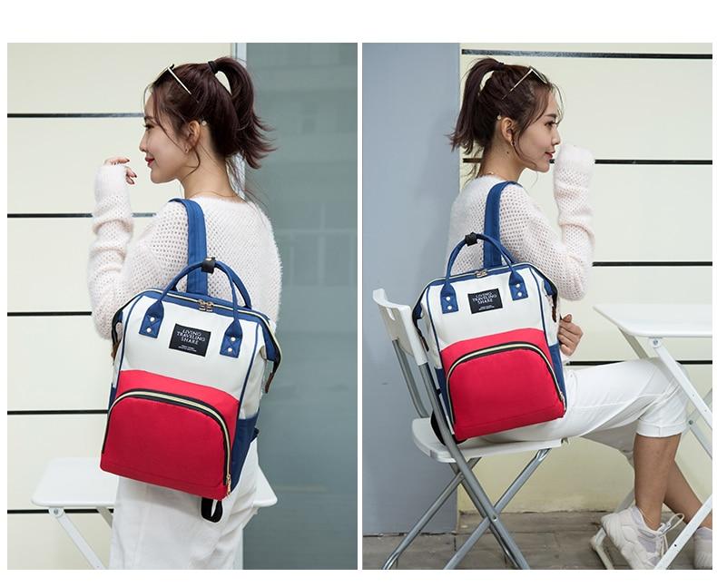 HTB1RcXgcRCw3KVjSZFuq6AAOpXaQ Large Capacity Mummy Bag Maternity Nappy Bag Travel Backpack Nursing Bag for Baby Care Women's Fashion Bag