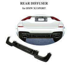 Автомобиль диффузор, губа на задний бампер для BMW X3 Sport X Drive 25iM 30iM 2018 2019 PP carbon fiber look