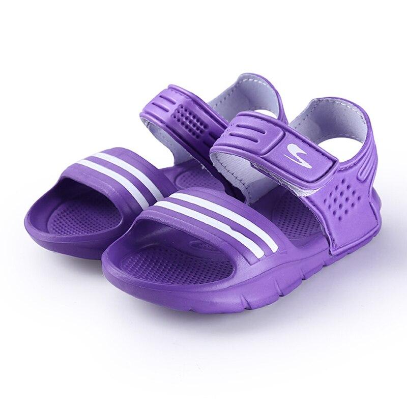 2017 Elsa Shoes Rubber Real New Plain Ankle Strap Unisex Sandalias - Zapatos de niños - foto 5