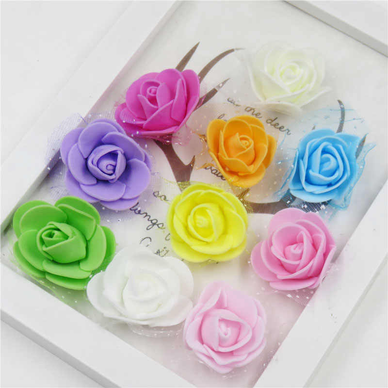1PCS Pretty Rose Net yarn Flower Elastic Hair Bands Toys For Girls Handmade  Hair Tie Scrunchy Kids Hair Accessories For Women