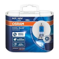Lâmpada do farol do carro de osram 5000 k farol 50% mais lâmpadas halógenas brilhantes h1 h3 h4/9003 h7 h9 h11 9005/hb3 9006/hb4 lâmpada azul fresco