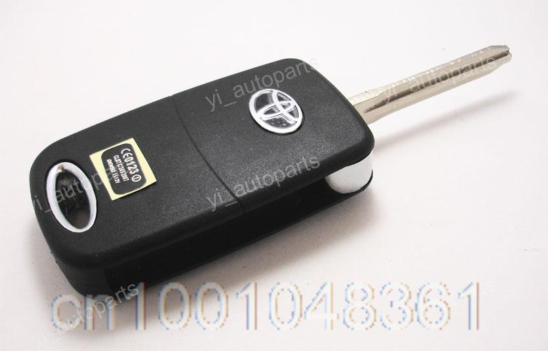 Keyless Folding Remote Key Shell Case Fob 3B for Toyota Land Cruiser FJ Cruiser Auto Parts and Vehicles