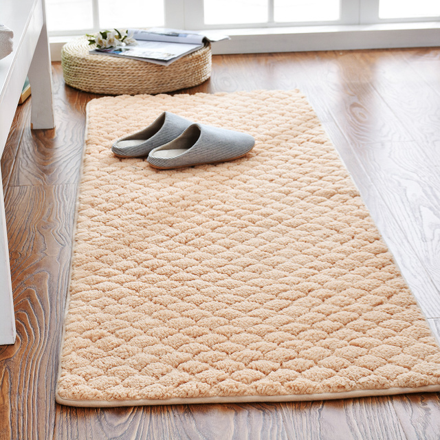 Modern Bedside Thicken Foam Floor Mat Anti Slip Kitchen Carpet