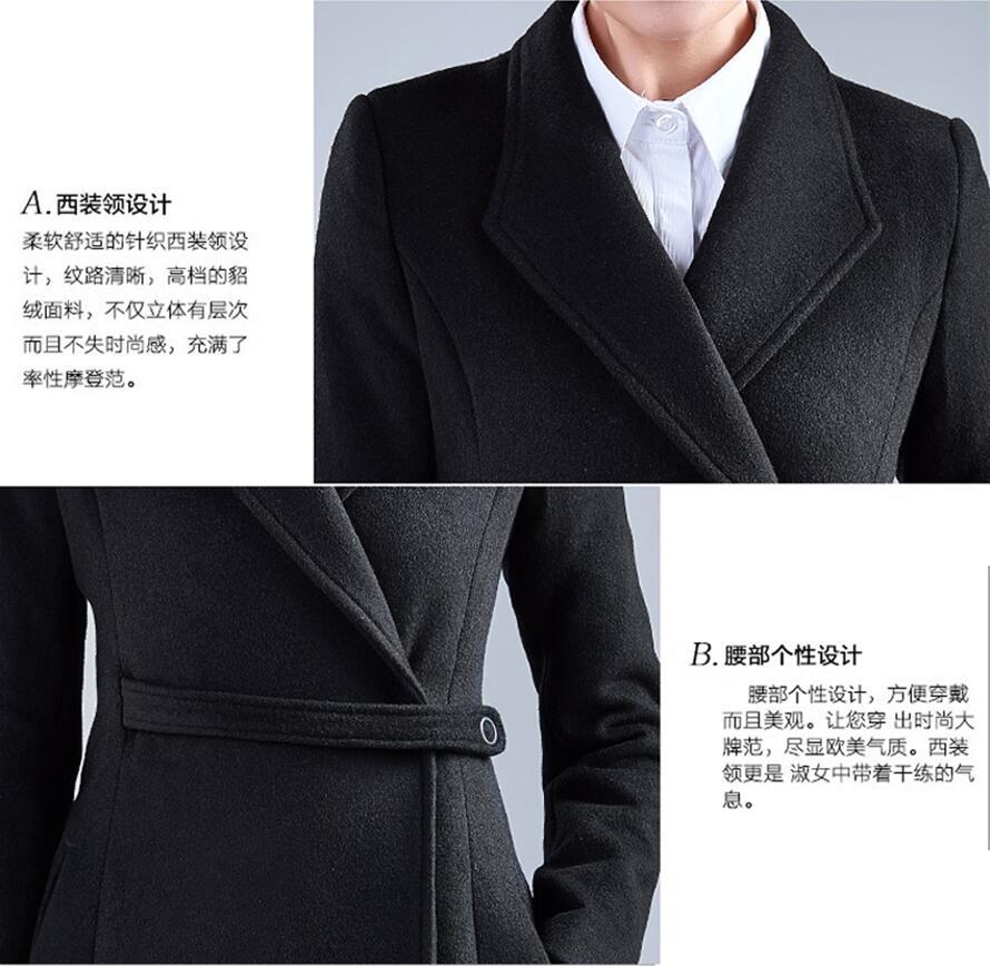 Survêtement Épaississement Hiver Noir Longue De Mince Bleu Laine Oaired Vêtements marine D'hiver Nouveau Femelle Manteau 2019 Chaud Femmes Parka APZC8wq