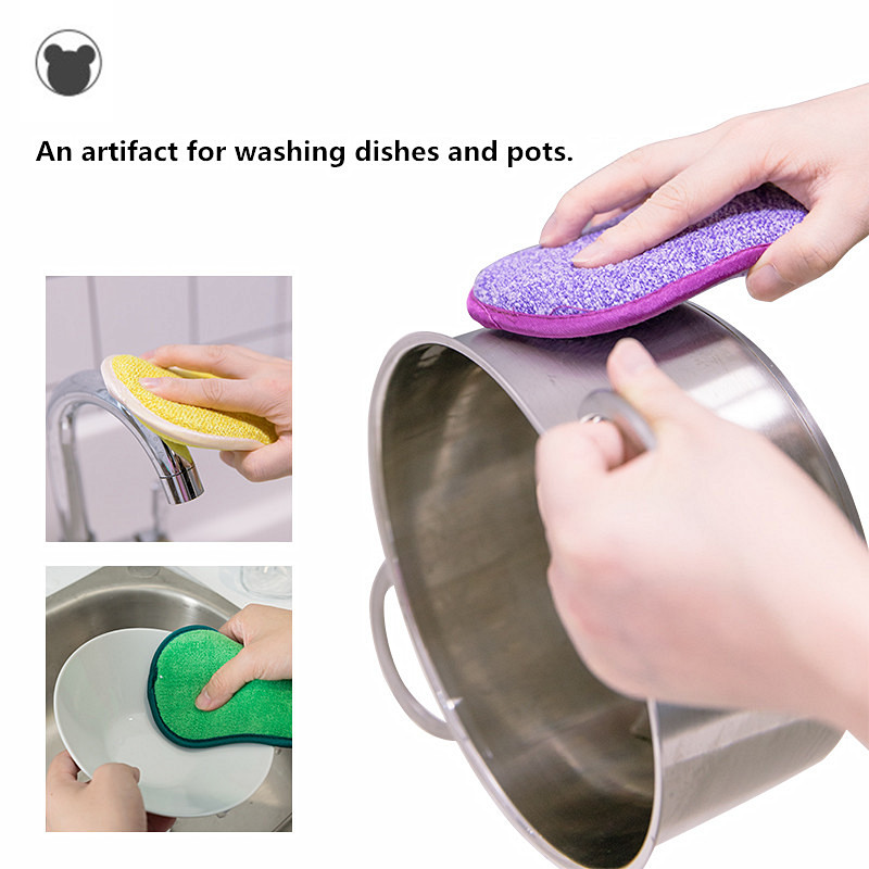 5pcs Anti microbial cleaning sponge magic sponge melamine sponges kitchen sponge for washing dishes kitchen scourer pan brush-in Sponges & Scouring Pads from Home & Garden