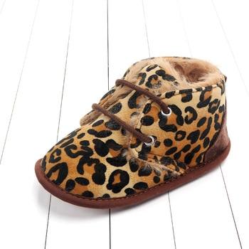 2020 Baby Girls Boys Winter Keep Warm Shoes First Walkers Sneakers Kids Crib Infant Toddler Footwear Boots Newborns Prewalkers - Leopard, 13-18 Months