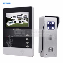 DIYSECUR New 4.3 inch TFT Color LCD Display Aluminum Alloy Camera Video Door Phone Intercom Doorbell LED Color Night Vision