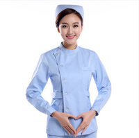 2019 Medical clothing white / Pink / Blue/ Long sleeve tops medical coat dental lab doctor uniform womenPharmacies work clothes