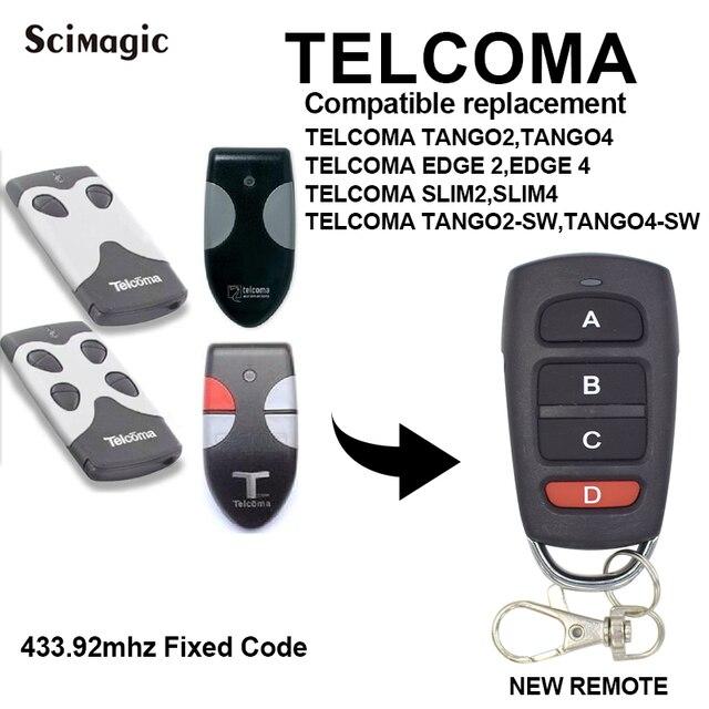 Cho TELCOMA TANGO 2 SLIM / TELCOMA TANGO 2 Thon Gọn Copy 433.92Mhz Điều Khiển Từ Xa Cho Nhà Để Xe Cửa Cổng