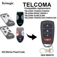 Voor Telcoma Tango 2 Slim/Telcoma Tango 2 Slanke Copy 433.92Mhz Afstandsbediening Voor Garage Deur Poort