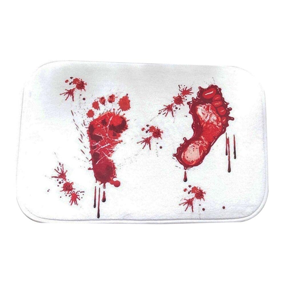 Bathmat korkutmak arkadaşlarınız kanlı ayak izi banyo banyo paspas kaymaz halı banyo paspasları!