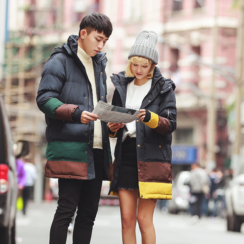 Winter Clothing Korean Style New Lovers X-Long Comfortable Cotton Hooded Detachable Counters High Quality Coats