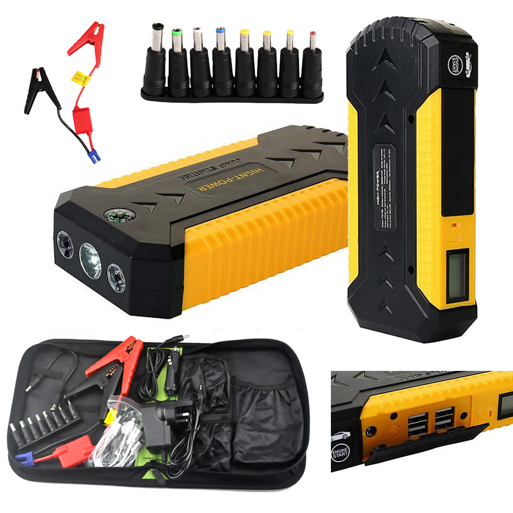 4 USB car jump starter auto booster power bank 12v emergency battery charger Multi-function 3 LED light with power adapter national geographic kids chapters animal superstars