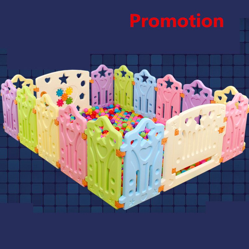 2017 New Cercadinho Fencing For Children 12+2pcs Baby Game Fence Color Full No Smell Good Quality Toddler Playpaen Toy Garden dog fence wireless containment system pet wire free fencing kd661
