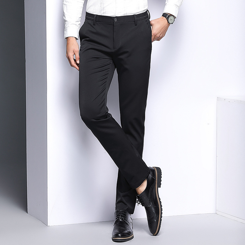 MRMT 2019 Brand Winter New Men's Elastic Trousers  Casual Fashion Pants For Male Middle-aged Add Wool Slacks Trouser
