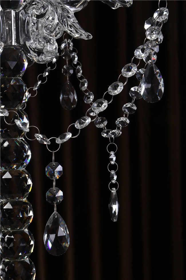 5 Desmontáveis Cristal Castiçais de Vidro Óptico Clássicos braços Candelabros para o Casamento Centros de Mesa de Decoração